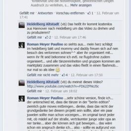 Bildschirmfoto der Diskussion unter meinem Post