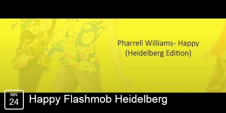 gelber Hintergrund, Text Pharrell Williams Happy (Heidelberg Edition)
