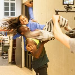 Akrobatische Tanzsituation