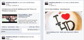 Facebookpost, der dazu aufruft auch ein Happy-Heidelberg Video zu machen